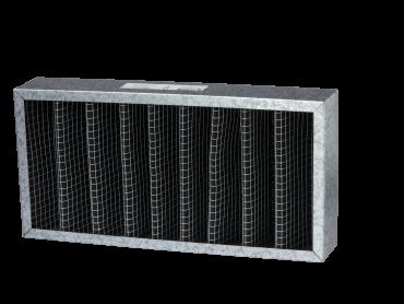 Disposable VForm Metal Frame Carbon Filter 2 - FAN2CA Series